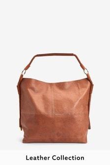 Leather Tassel Detail Shopper