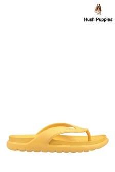 Hush Puppies Yellow Bouncer Flip Flops