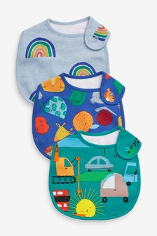 3 Pack Character Transport Regular Bibs