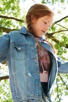 Удлиненная джинсовая куртка (3-16 лет)