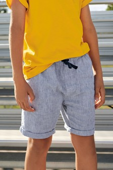 Pull-On Linen Blend Shorts (3-16yrs)