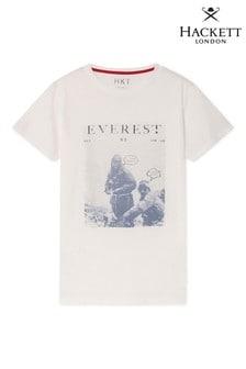 Hackett White HKT Short Sleeve Printed T-Shirt
