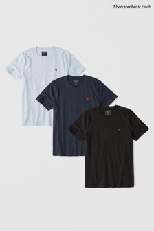 Abercrombie & Fitch Black Tee Three Pack