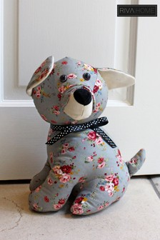 Floral Dog Draught Excluder by Riva Home