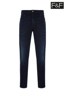 F&F Indigo Knitted Jeans