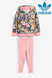 adidas Originals Little Kids Tropical Print Hoody And Jogger Set