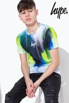 Hype. Lime Chevron Drips Kids T-Shirt