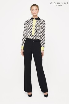 Damsel In A Dress Black Lydia Straight City Suit Trouser