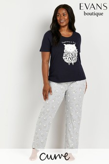 Evans Curve Navy Blue Dreaming Pyjamas