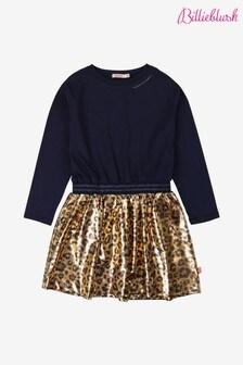 Billieblush Navy Leopard Print Dress