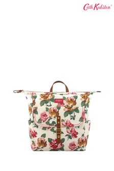 Cath Kidston® Cream Chiswick Rose Matt Canvas Backpack