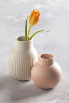 Set of 2 Ceramic Vases