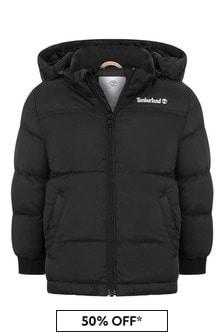 Timberland Boys Black Padded Jacket