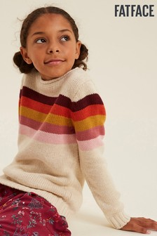 FatFace Natural Stripe Crew Knit Jumper