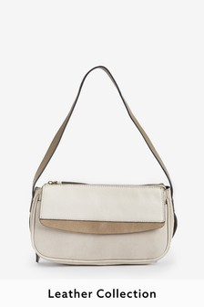 Leather Baguette Bag