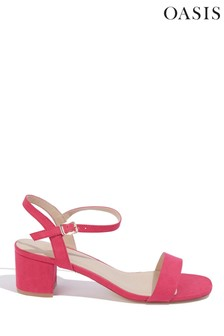 Oasis Pink Dolly Low Heeled Sandal