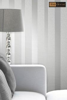 Quartz Stripe Wallpaper by Fine Décor