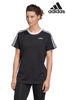 adidas Black Essential Boyfriend Fit T-Shirt