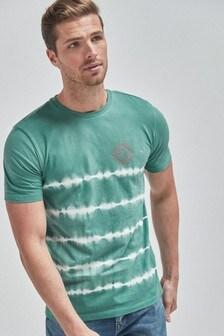 Tie Dye Stripe Slim Fit T-Shirt