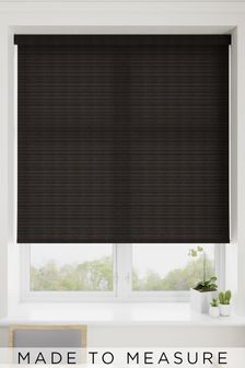 Pinter Ebony Black Made To Measure Roller Blind