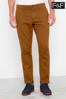 F&F Red Rust Slim Chinos