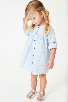 فستان بأزرار (3 شهور -7 سنوات)