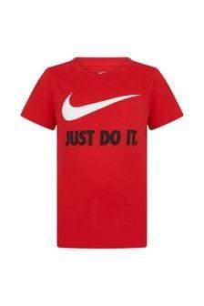 Nike Boys Black Cotton T-Shirt