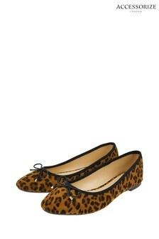 Accessorize Leopard Charlotte Ballerinas