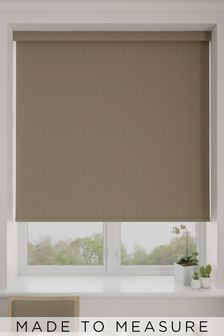 Eva Taupe Brown Made To Measure Blackout Roller Blind