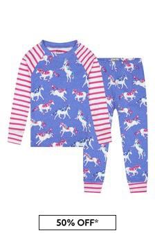 Hatley Kids & Baby Girls Purple Dreamy Unicorns Organic Cotton Raglan Pyjama Set