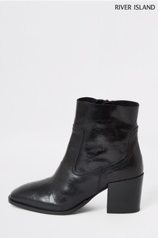 Bottines River Island Pluto noires