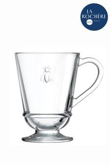 Set of 6 La Rochère Glass Bee Mugs