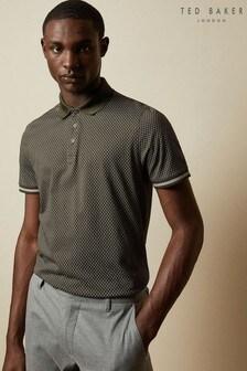 Ted Baker Green Holybob Geo Print Polo Shirt
