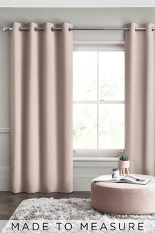 Made To Measure Blush Textured Curtains