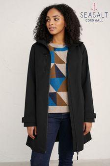 Seasalt Cornwall Black Coverack Coat