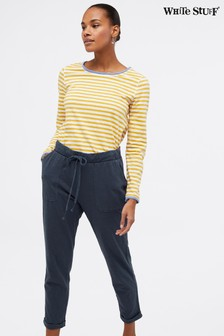 White Stuff Blue Wychwood Jersey Crop Trousers