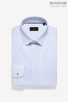 Немнущаяся фирменная рубашка из эластичного египетского хлопка