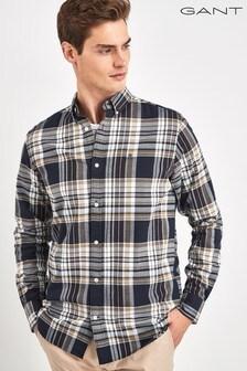 GANT Blue Brushed Oxford Regular Shirt