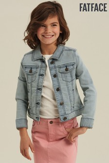 FatFace Natural Stripe Denim Jacket