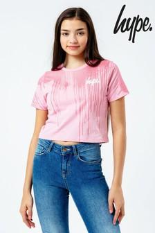 Hype. Glitter Cropped T-Shirt