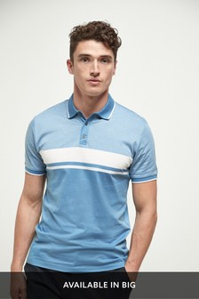 Textured Chest Block Polo