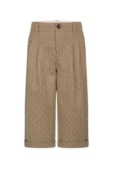 GUCCI Kids Boys Beige Canvas Geometric GG Trousers