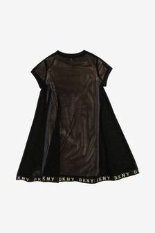DKNY Black Mesh Dress
