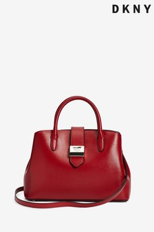 DKNY Lyla Leather Mini Satchel Tote Bag