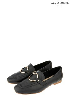 Accessorize Black Louise Loafers