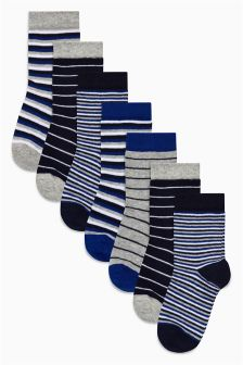 Stripe Socks Seven Pack (Younger)