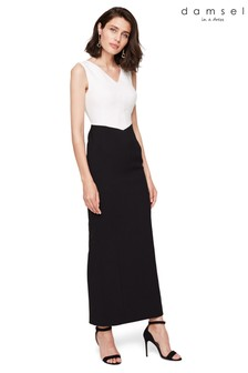 Damsel In A Dress Black Monique Colourblock Maxi Dress