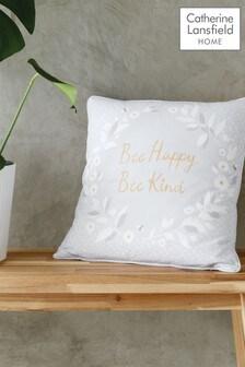 Catherine Lansfield Grey Bee Kind Cushion