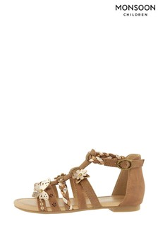 Monsoon Tan Butterfly Strappy Sandals