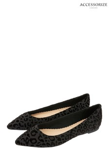 Accessorize Black Georgie Point Shoes